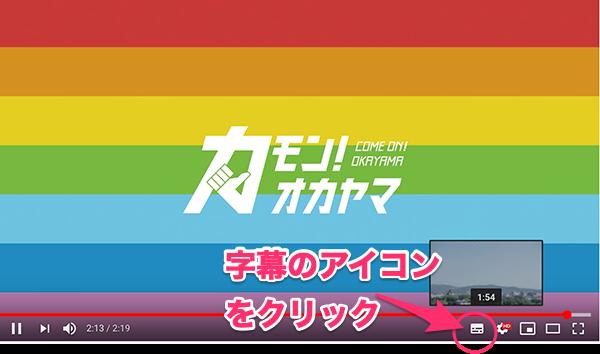 キャプチャー、YouTube字幕表示